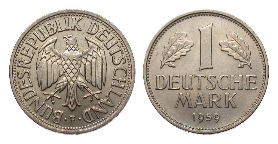 1 Dm 1959 F Bundesrepublik Deutschland Fdc Ma Shops