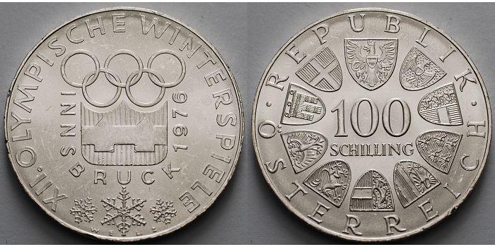 100 Schilling Br1536g Feinbr 36 Mm ø 1976 österreich