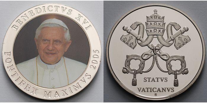 2007 Deutschland Medaille Papst Benedikt Xviipontifex Maximus