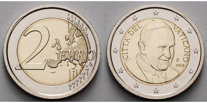 2 Euro 2015 Vatikan Kursmünze 2 Euro B Zweite Münze Papst