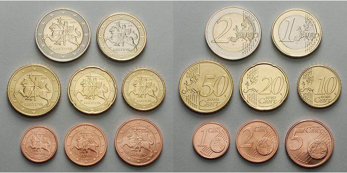 1 Cent 2 Euro 388 Mixsatz2015 Litauen Preiswerte