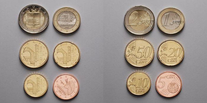 5 Cent 2 Euro 385 2014 Andorra 6 Münzenb Zusammenstellung D