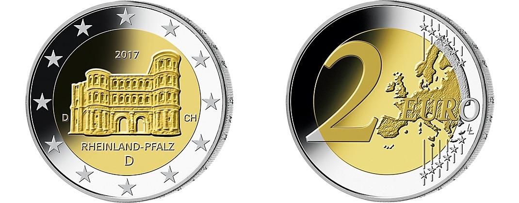 2 Euro 2017a Deutschland Porta Nigra Trier In Rheinland Pfalz Br