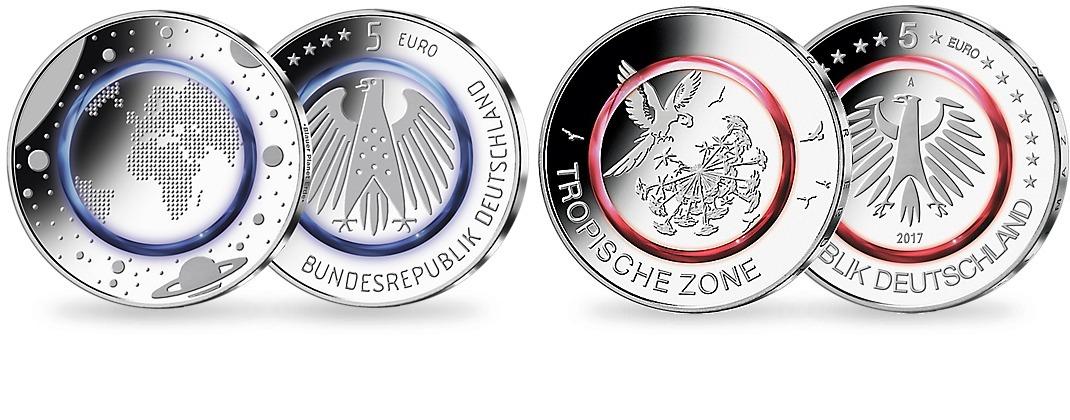 5 Eurobr 10x 201617 A J Deutschland Erde Zone Br B2 Kompl