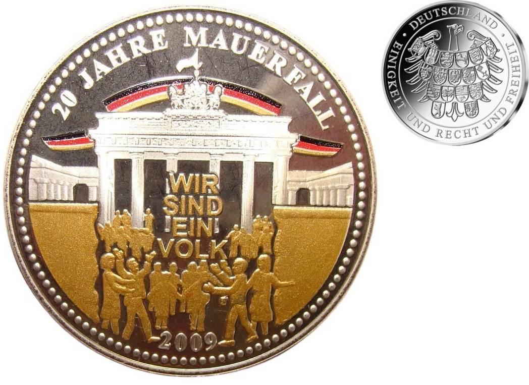 572gbr Fein Br35 Mm ø 2009 Berlin Medaille Aus Silber 20