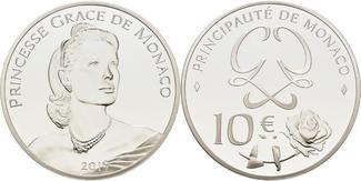 Monaco 10 Euro 2019 <b>PP</b> 90. Geburtstag Fürst