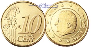 10 Cent 1999 Belgien Kursmünze 10 Cent Fdc Ma Shops