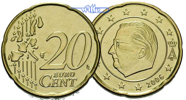 20 Cent 2000 Belgien Kursmünze 20 Cent Fdc Ma Shops