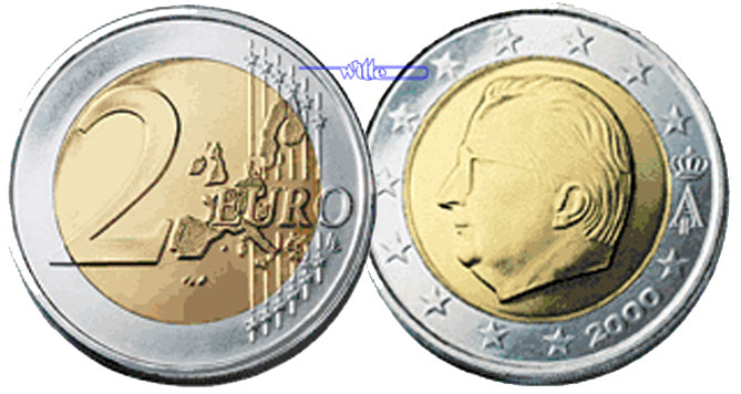 2 Euro 2000 Belgien Kursmünze 2 Euro Fdc Ma Shops