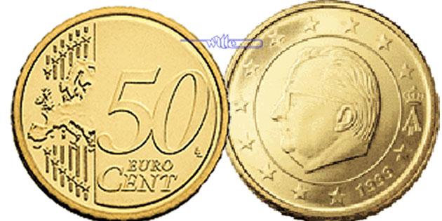 50 Cent 2009 Belgien Kursmünze 50 Cent Fdc Ma Shops