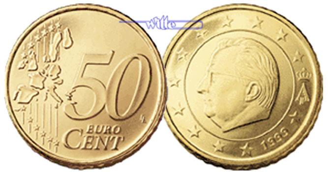 50 Cent 1999 Belgien Kursmünze 50 Cent Fdc Ma Shops