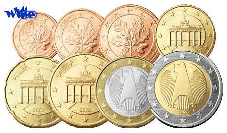 1 Cent 2 Euro 388 Mixsatz Deutschland Preiswerte Zusammenstellung