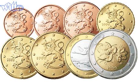 1 Cent 2 Euro 388 Mixsatz Finnland Preiswerte Zusammenstellung