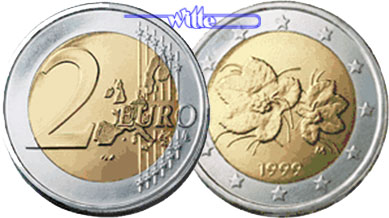2 Euro 1999 Finnland Kursmünze 2 Euro Fdc Ma Shops