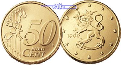 50 Cent 1999 Finnland Kursmünze 50 Cent Fdc Ma Shops