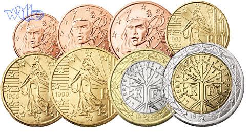 1 Cent 2 Euro 388 Mixsatz Frankreich Bpreiswerteb