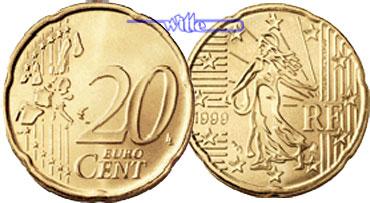 20 Cent 1999 Frankreich Kursmünze 20 Cent Fdc Ma Shops