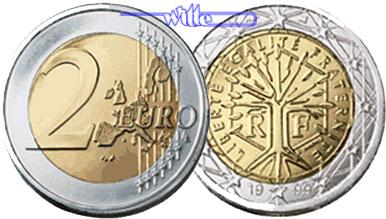 2 Euro 2001 Frankreich Kursmünze 2 Euro Fdc Ma Shops