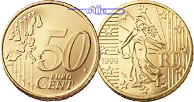 50 Cent 1999 Frankreich Kursmünze 50 Cent Fdc Ma Shops