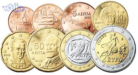 1 Cent 2 Euro 388 2002 Befsb Griechenland Kursmünzen