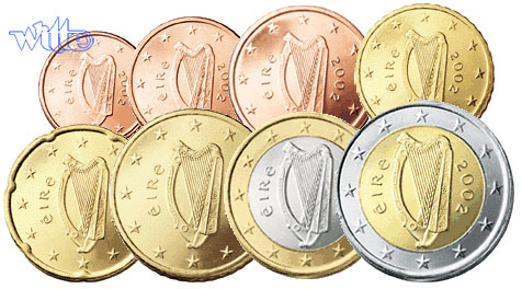1 Cent 2 Euro 388 2017 Irland Kursmünzen Kompl Satz 2017 Fdc