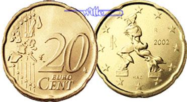 20 Cent 2002 Italien Kursmünze 20 Cent Fdc Ma Shops