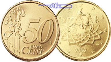 50 Cent 2002 Italien Kursmünze 50 Cent Fdc Ma Shops