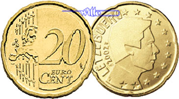20 Cent 2008 Luxemburg Kursmünze 20 Cent Fdc Ma Shops