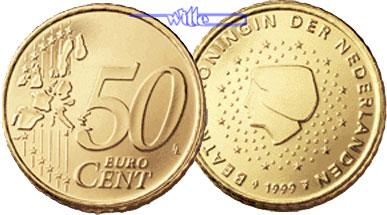 50 Cent 1999 Niederlande Kursmünze 50 Cent Fdc Ma Shops