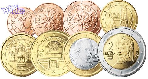 1 Cent 2 Euro 388 2009 österreich Kursmünzen Kompl Satz 2009