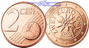 2 Cent 2008 österreich Kursmünze 2 Cent Fdc Ma Shops