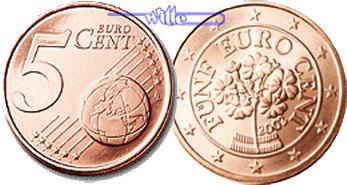5 Cent 2008 österreich Kursmünze 5 Cent Fdc Ma Shops