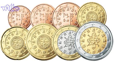 1 Cent 2 Euro 388 2009 Portugal Kursmünzen Kompl Satz 2009 Mit