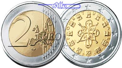 2 Euro 2002 Portugal Kursmünze 2 Euro Fdc Ma Shops