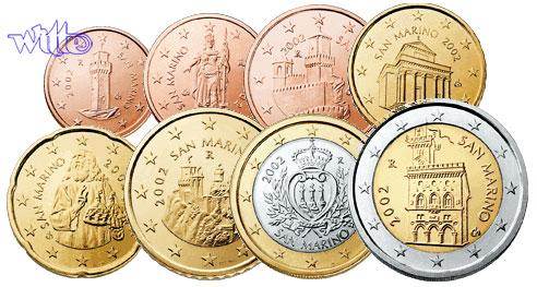 1 Cent 2 Euro 388 Mixsatz San Marino Bpreiswerteb