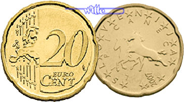 20 Cent 2007 Slowenien Kursmünze 20 Cent Fdc Ma Shops