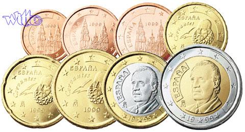 1 Cent 2 Euro 388 Mixsatz Spanien Preiswerte Zusammenstellung