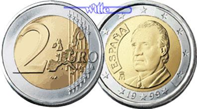 2 Euro 1999 Spanien Kursmünze 2 Euro Fdc Ma Shops