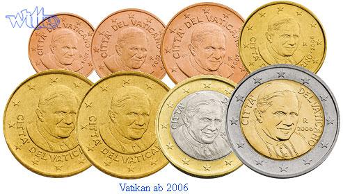 1 Cent 2 Euro 388 Mixsatz Vatikan Bpreiswerteb