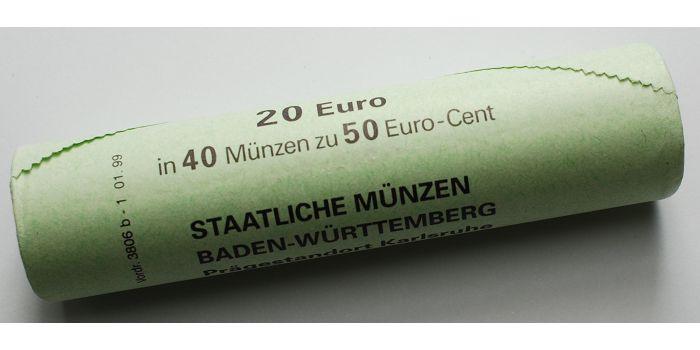 50 Cent 2002 Bgb Deutschland Kursmünze 50 Cent Rollenware
