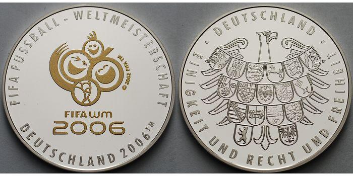 Medaille 2006 Deutschland Fußball Wm 2006 Offizielles Emblem Mit