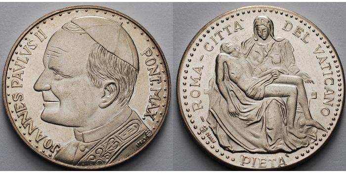 1548g Rohbr35mm ø Italien Vatikan Medaille Johannes Paul Ii