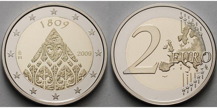 2 Euro 2009 Finnland 200jahrestag Der Autonomie Jubeljahr 1809