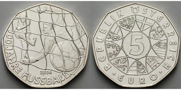 5 Euro 2004 österreich 100 Jahre Fußball Sup Ma Shops