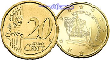 20 Cent 2008 Zypern Kursmünze 20 Cent Fdc Ma Shops